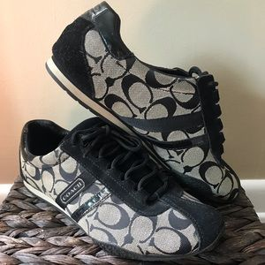 Coach shoes with cleaner